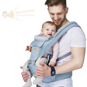 6-in-1 FRUITEAM Baby Carrier with Waist Stool