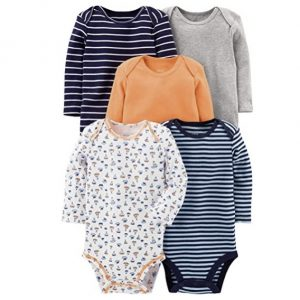 Simple Joys by Carter's 5-Pack Long-Sleeve Bodysuit